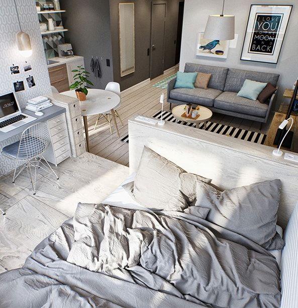 Ideas para pisos pequeños Apartamentos pequeños, Apartamentos y