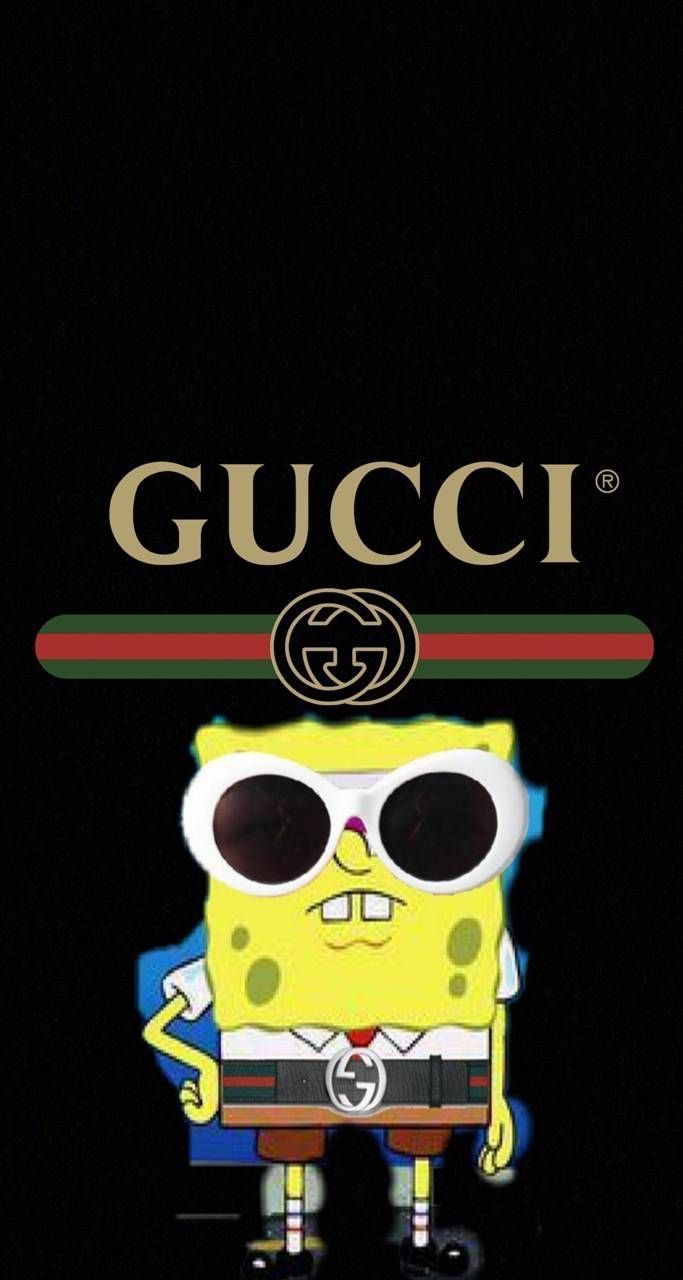 Spongebob Gucci Clout Glasses In 2020 Funny Iphone Wallpaper Cartoon Wallpaper Iphone Spongebob Wallpaper