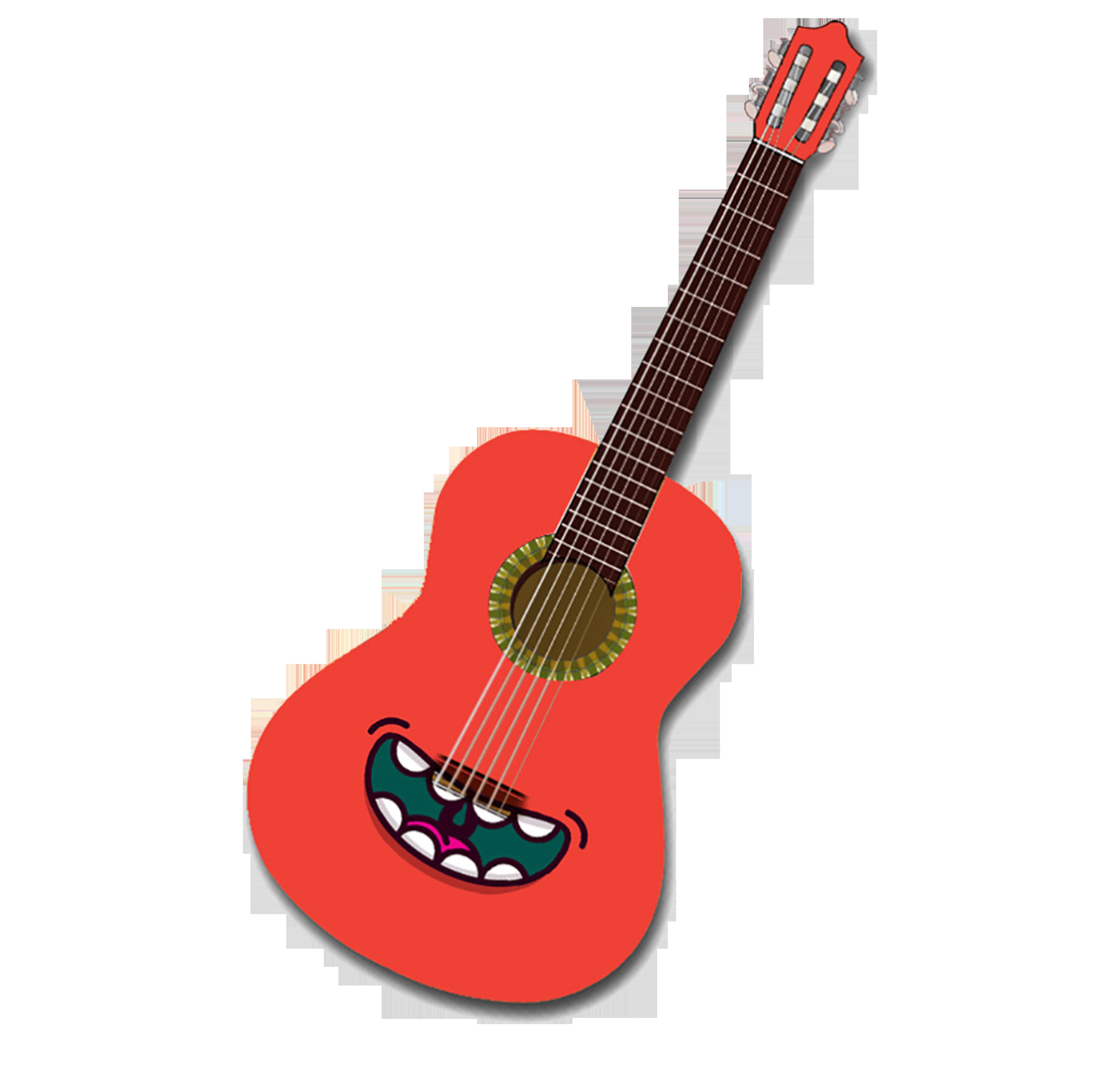 Guitar Cartoon Creative Hq Image Free Png Guitar Images Guitar Valve Trombone