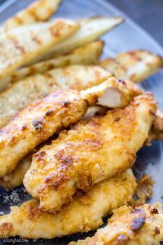 These chicken tenders are baked not fried, and marinated with ranch dressing! They're a total crowd pleaser. | www.alattefood.com