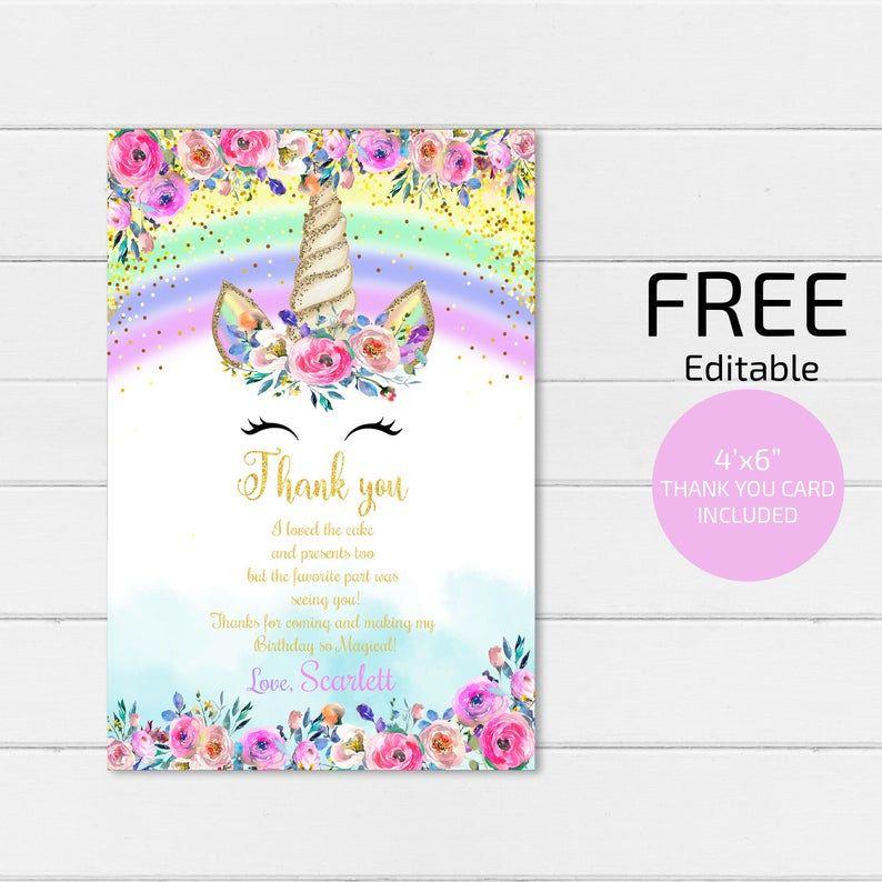 rainbow unicorn invitation unicorn