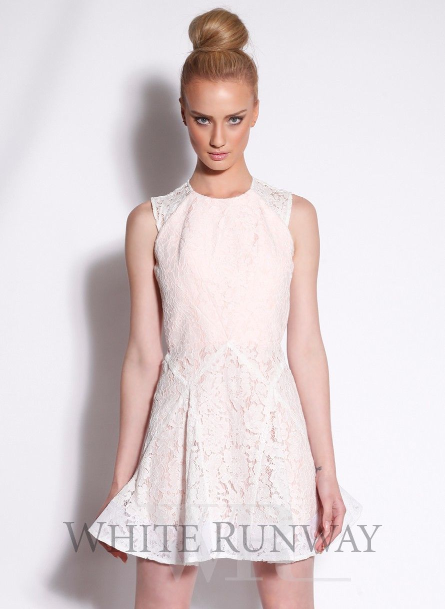 Kelsey lace dress by alex perry whiterunway bridesmaids fashion