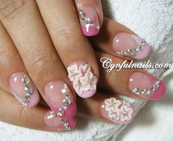 1000 ideas about bling wedding nails on pinterest faded french ...