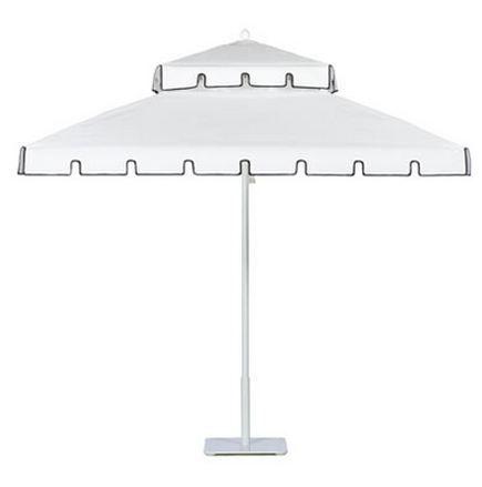 black and white umbrella garden design details retro patio