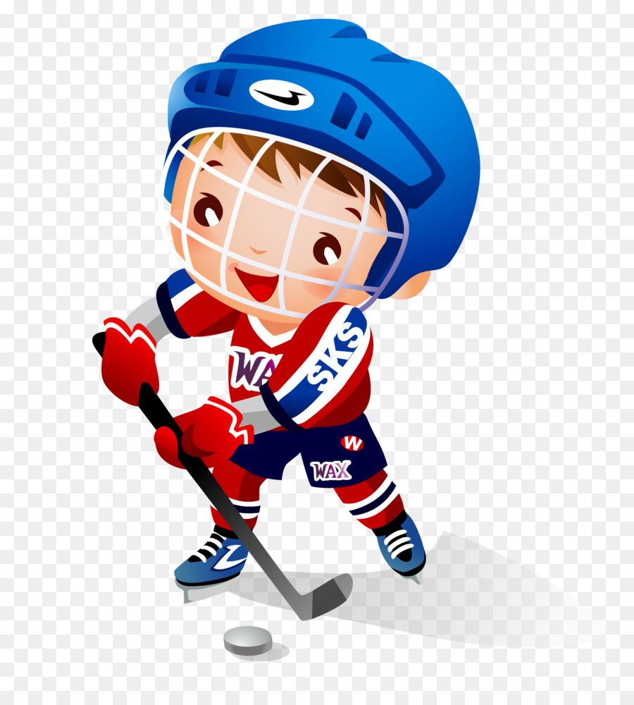 Ice Hockey Child Hockey Stick Clip Art Vector Cartoon Boy Playing Hockey In 2020 Hockey Stick Ice Hockey Cartoon Boy