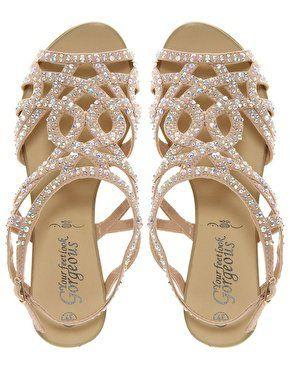 37e1a90383c New Look Fabulous Diamante Trim Flat Sandal at asos.com