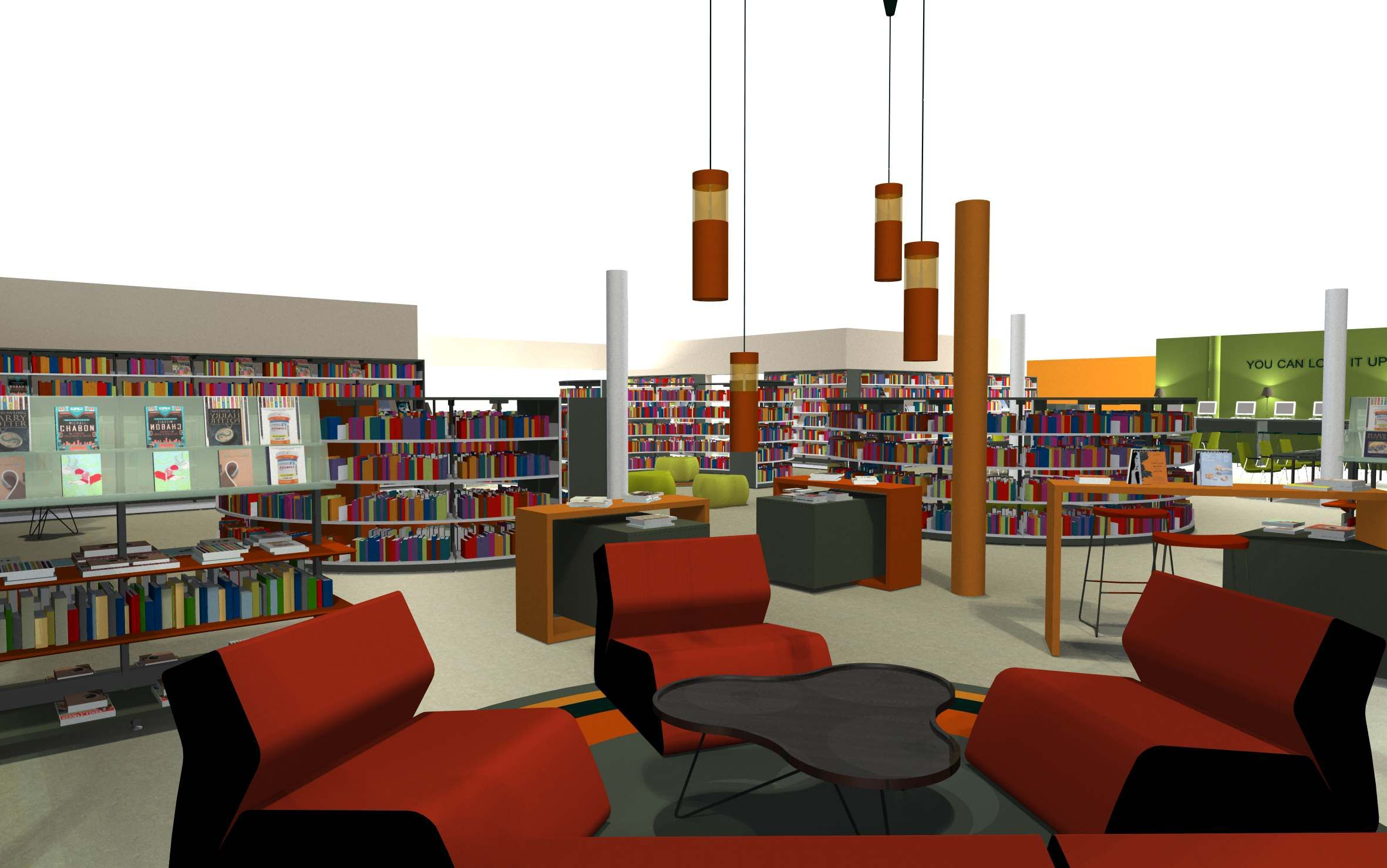Bci Modern Library Design Process Planning Design And Layout Library Design Modern Library Furniture Interior Architect