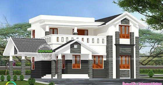 244 Square Yard Modern 4 Bedroom Home In 2019 Kerala