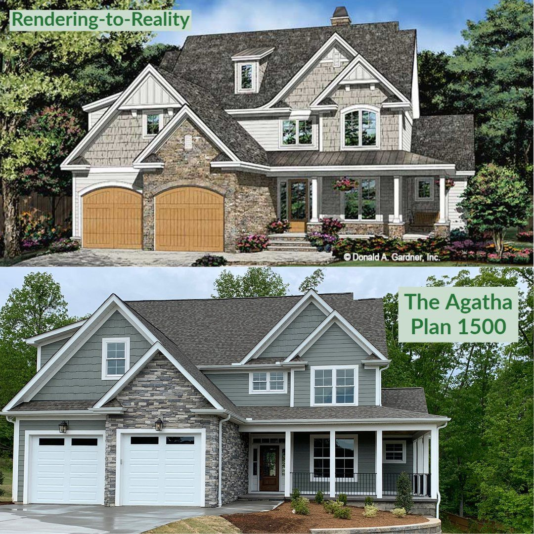 Agatha Plan 1500 Rendering To Reality In 2020 Building A House House Plans Custom Homes