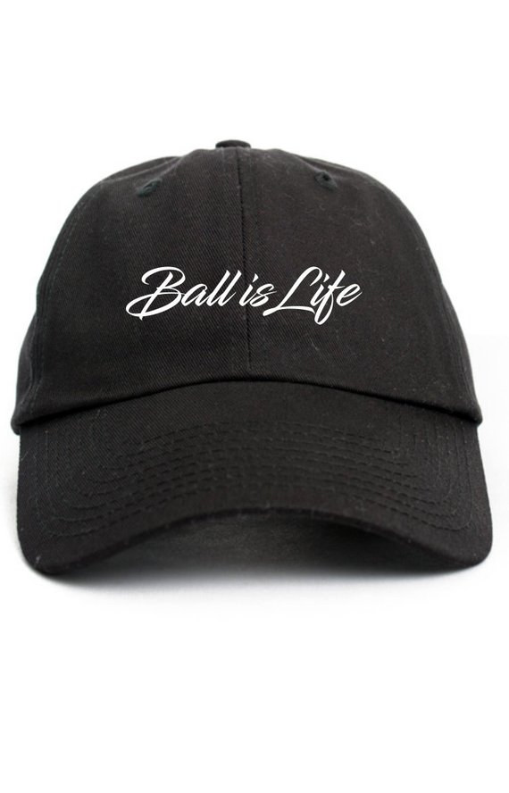 Ball Is Life Cursive Custom Dad Hat Adjustable Baseball Cap Choose Your  Color! Free Shipping! 4b64c72a778