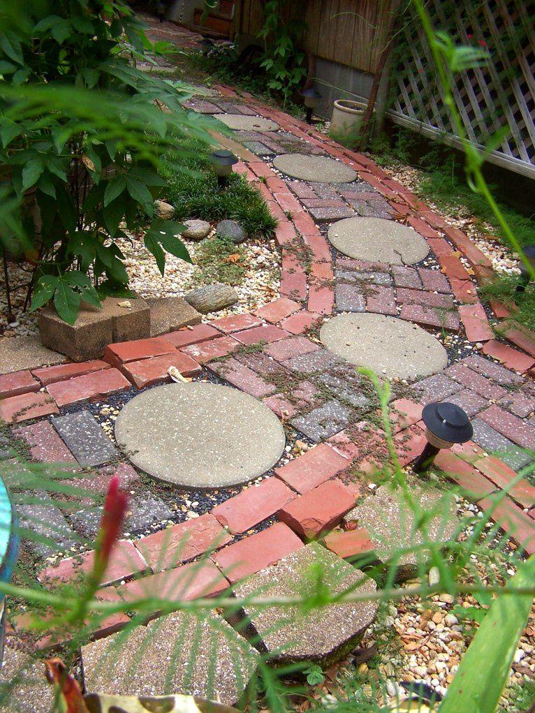 Mixed Media Garden Path
