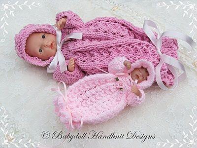 Lacy Bunting y capo patrón muñeca-tejer muñeca, modelo que hace ...