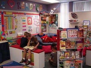 love the classroom library setup