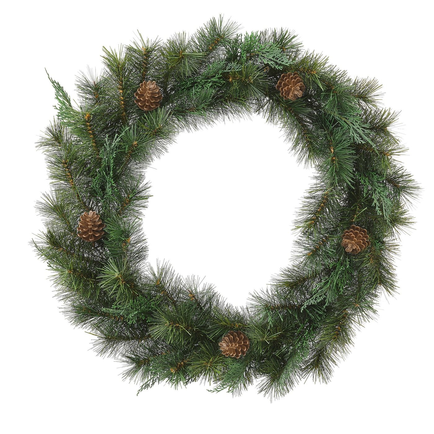 VINTERFEST Artificial wreath – indoor/outdoor, green – IKEA