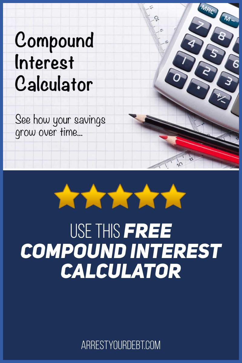 Compound Interest Calculator Arrest Your Debt In 2020 Interest Calculator Personal Finance Blogs Investing