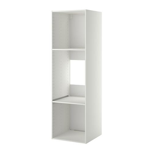 Metod High Cabinet Frame For Fridge Oven White 60x60x200 Cm