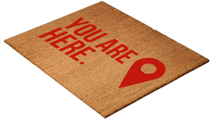 you are here funny welcome mat funny floor mats funny welcome mat house front door. Black Bedroom Furniture Sets. Home Design Ideas