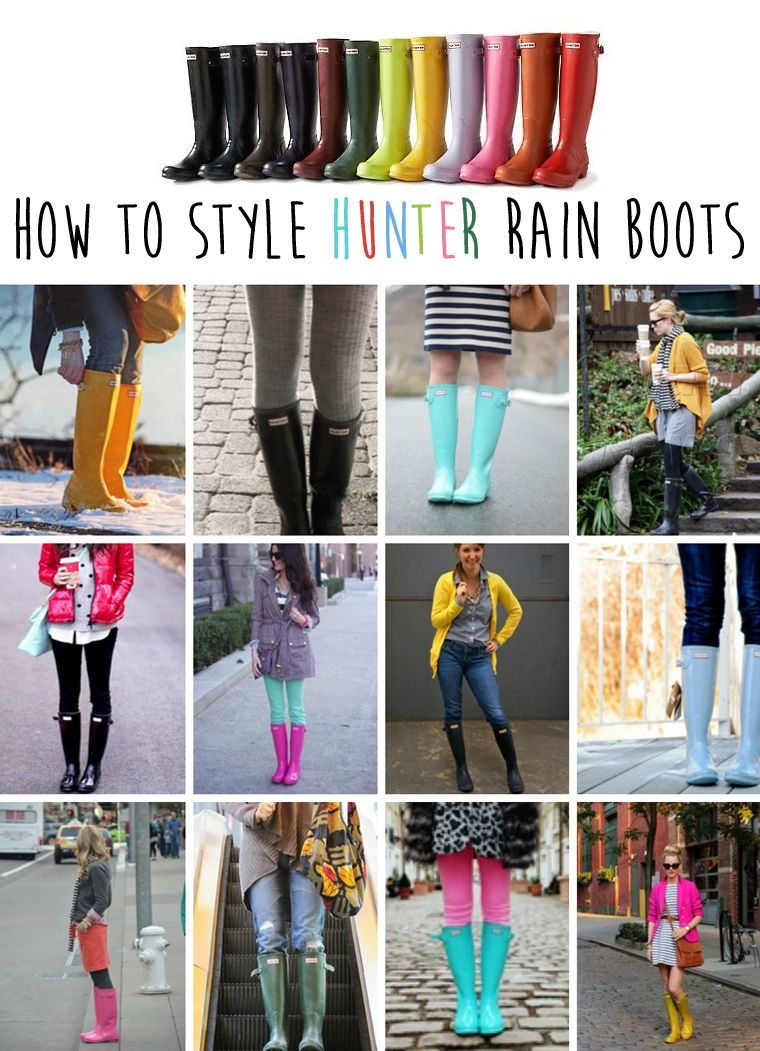 fe944e5f009 How to Style Hunter Rain Boots for those wet rainy days . . . . really  needed these this morning!