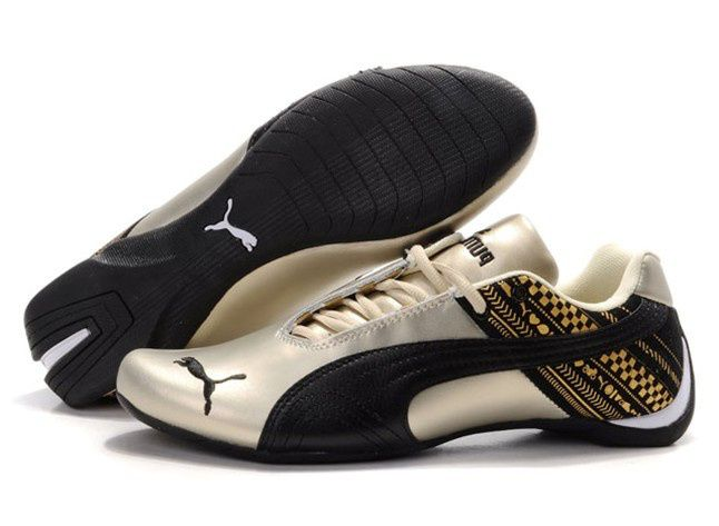 Puma Ferrari Drift Cat Mens shoes Gold Black | Mens puma ...