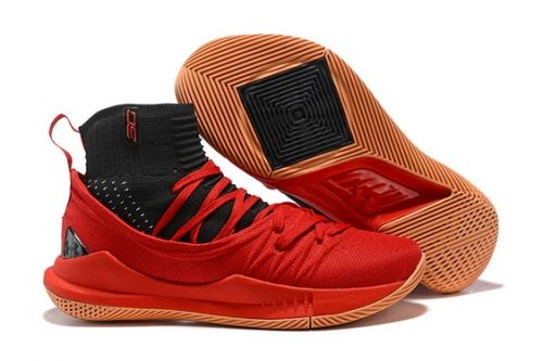 finest selection c4c9c 3d9c4 Genuine UA Curry 5 High Tops Red Black - Mysecretshoes