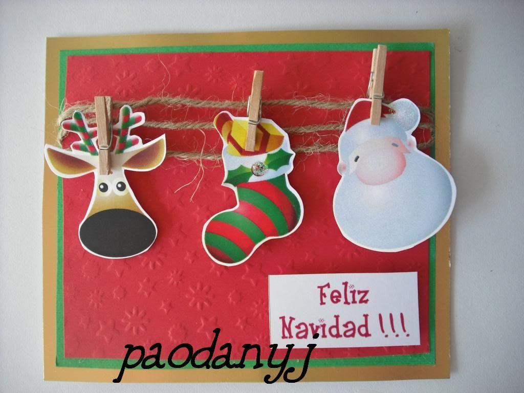 Tarjetas navide as creativas buscar con google - Manualidades postales navidad ...