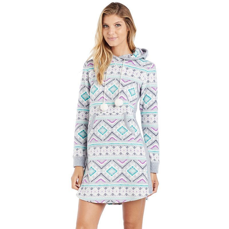 Women's Cuddl Duds Pajamas: Show Stopper Hooded Sleep Shirt, Size: