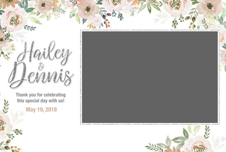 Floral Photo Booth 4x6 Template Photobooth Template Etsy In 2021 Instagram Cutout Photo Booth Frame Photobooth Template