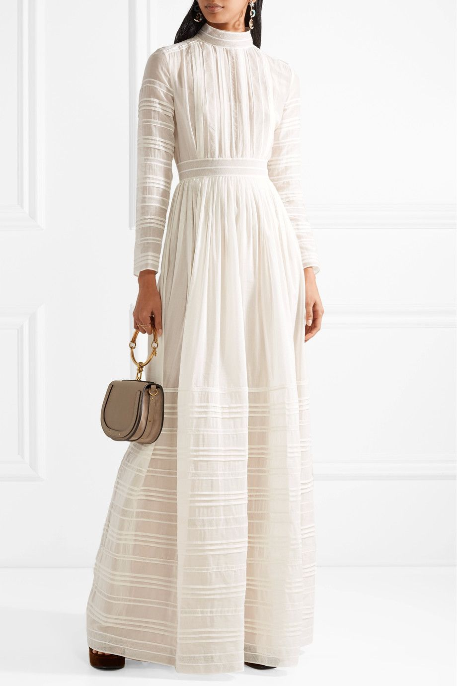 Tulle-trimmed Pintucked Cotton And Silk-blend Voile Gown - Ivory Valentino Sunshine Clearance The Cheapest wBzqs