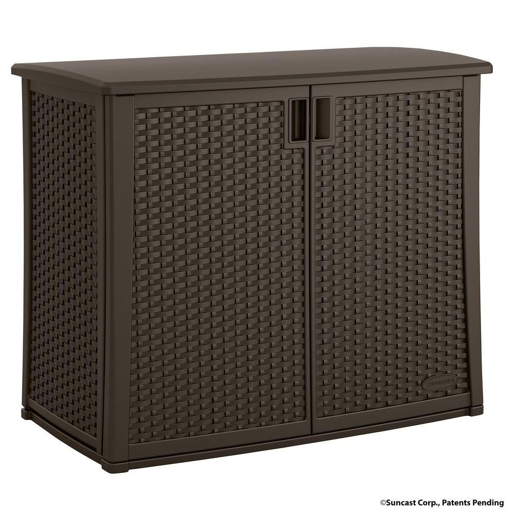 Suncast 97 Gal Resin Outdoor Patio Cabinet Bmoc4100 The Home