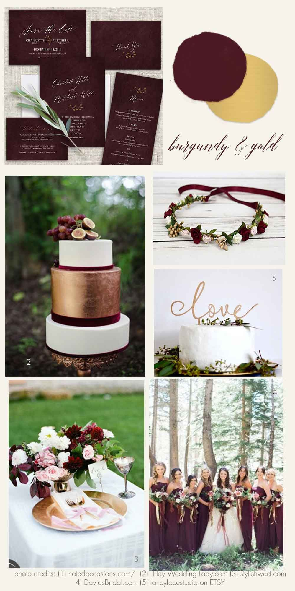 Burgundy and gold wedding inspiration and ideas beautiful wedding