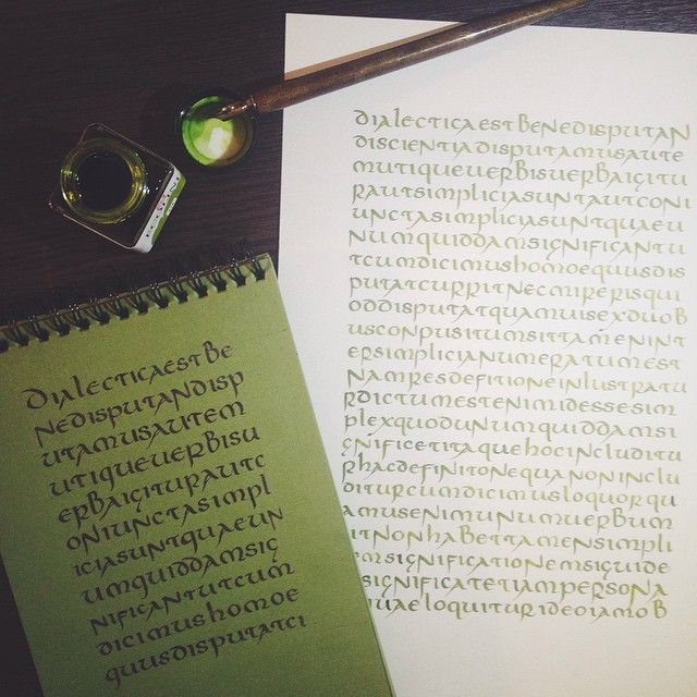 uncial calligraphy