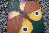 Brown and Gold Butterfly Stepping Stone