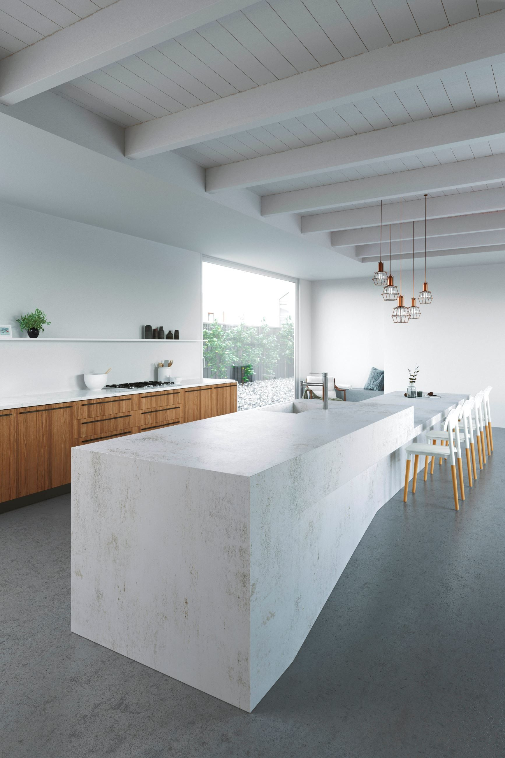 Inspired by metal dekton nilium offers a subtle blend of silver