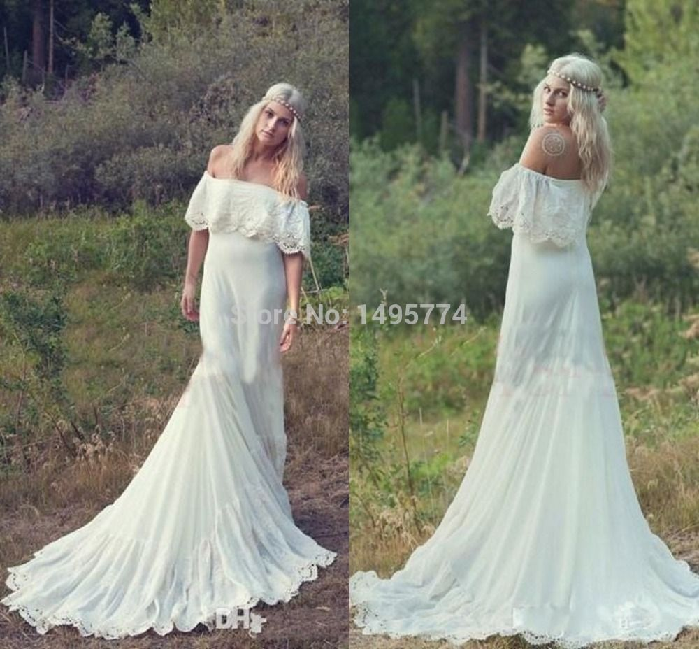 Best wedding dresses aliexpress   Bohemian Styles Mermaid Wedding Dresses Hippie Bohemian Bridal