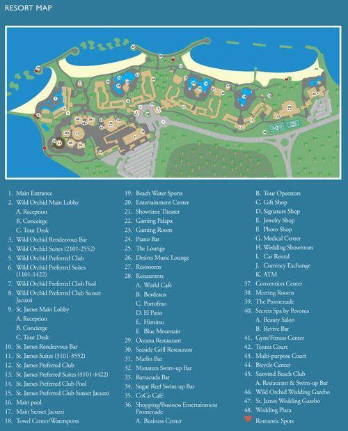Secrets Wild Orchid Montego Bay Jamaica map of resort Wedding