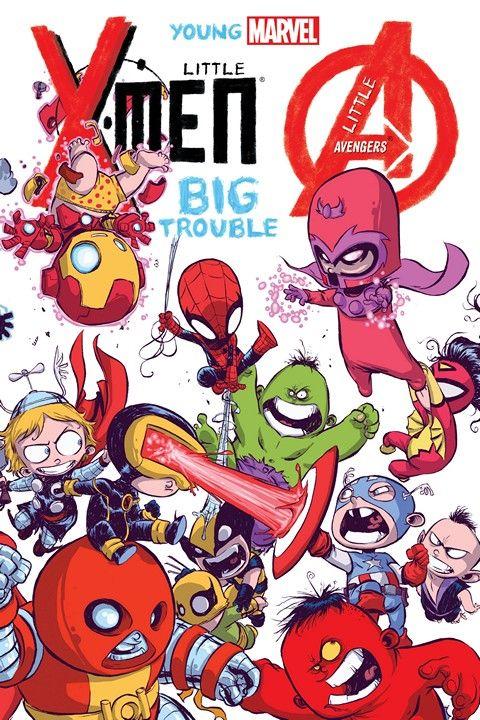 Young Marvel Little X Men Little Avengers Big Trouble Getcomics Marvel Kids Skottie Young Midtown Comics