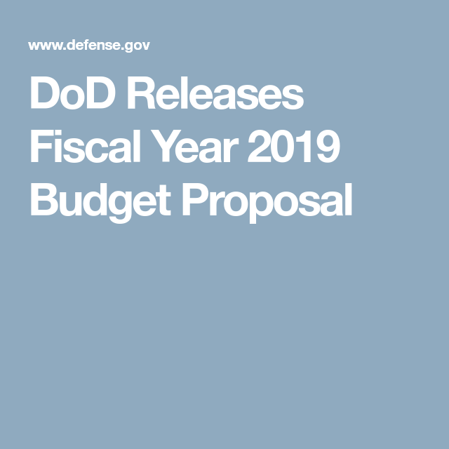 Dod Releases Fiscal Year  Budget Proposal  Fiscal Year