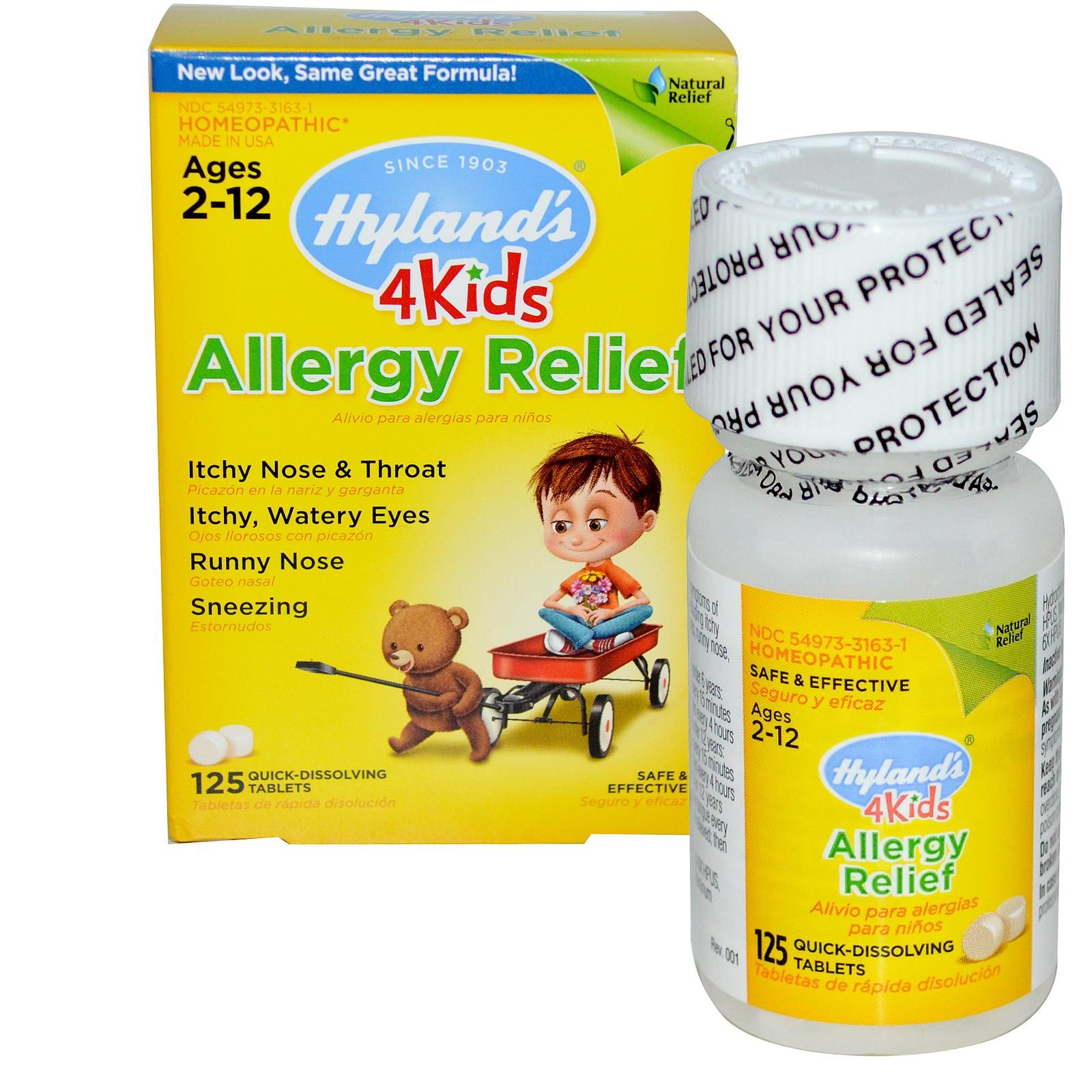 Hyland's, 4 Kids, Allergy Relief, Ages 2-12, 125 Quick-Dissolving