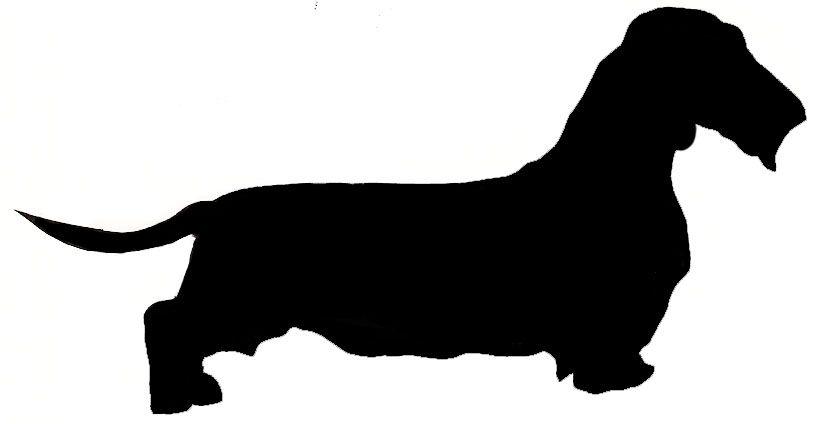 Dachshund Short Haired Silhouette Dachshund Silhouette