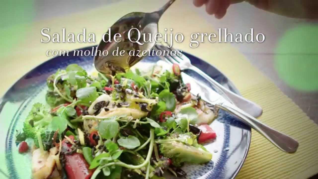 Episódio 77 - Queijo - Salada de Queijo grelhado com molho de azeitonas ...