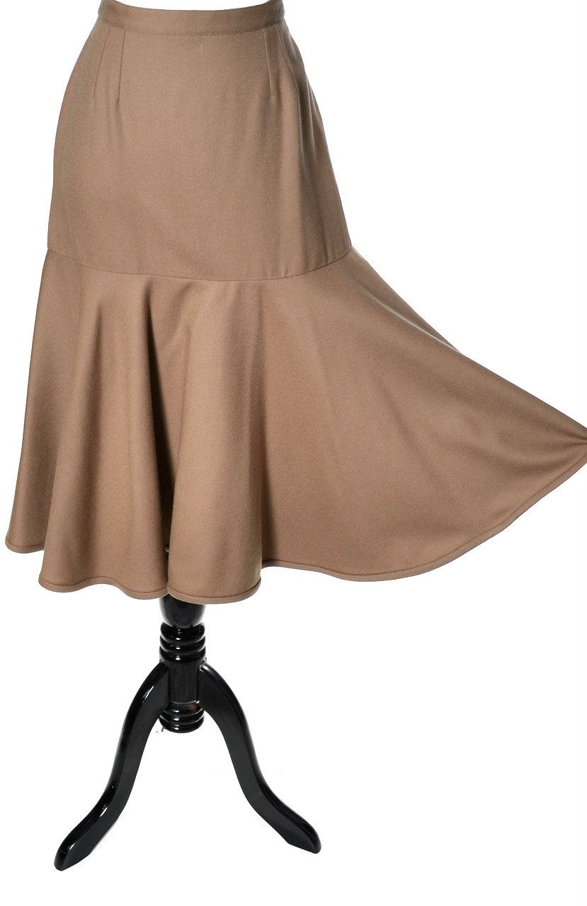 Dressing Vintage - Camel wool vintage Valentino flared skirt in mint condition, $295.00 (http://dressingvintage.com/camel-wool-vintage-valentino-flared-skirt-in-mint-condition/)