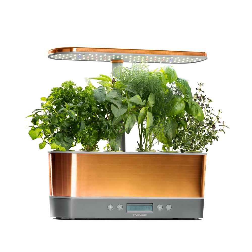 Aerogarden Harvest Elite Slim Copper Home Garden System 640 x 480