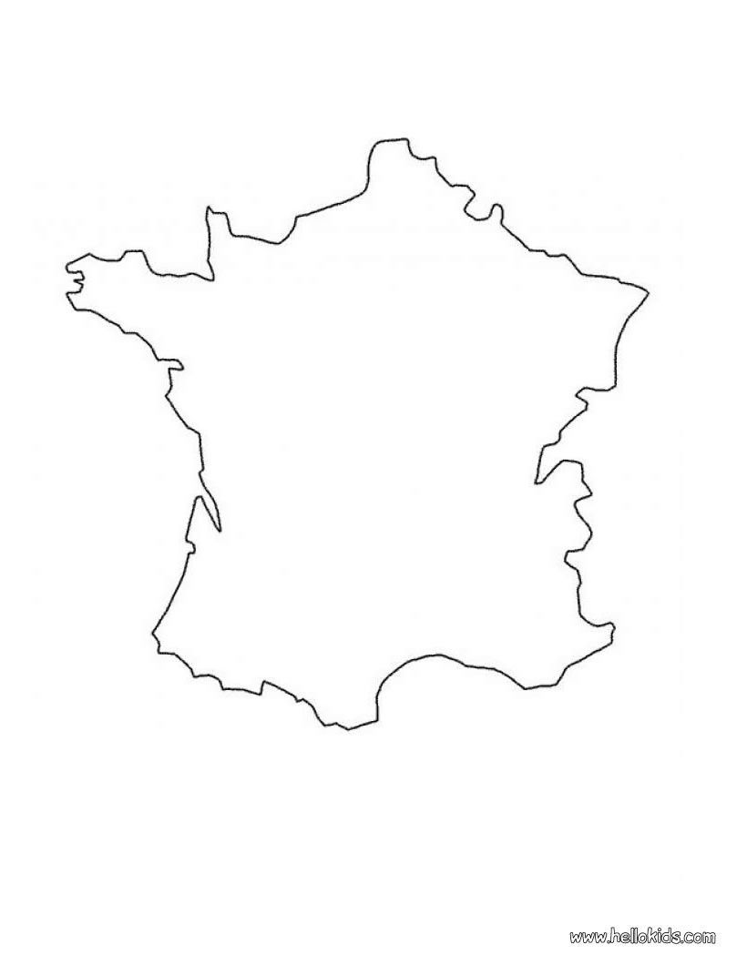 blank map of france for kids France Map Coloring Page France Map Coloring Pages Amazing Maps blank map of france for kids
