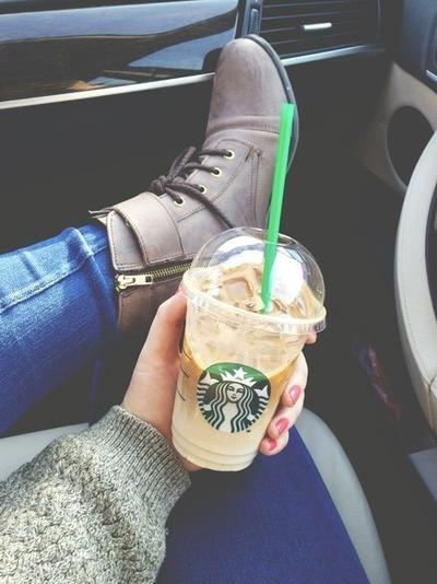Starbucks Tumblr Girl - Caramel, Juice - Frappuccino Car -4611