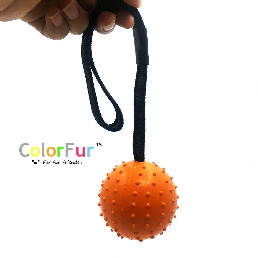 Colorfur Tough Ball Toy For Medium And Large Dogs Chew