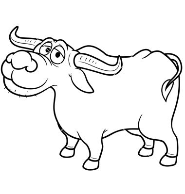 Buffalo Outline Buffeltje Christian crafts, Clip art