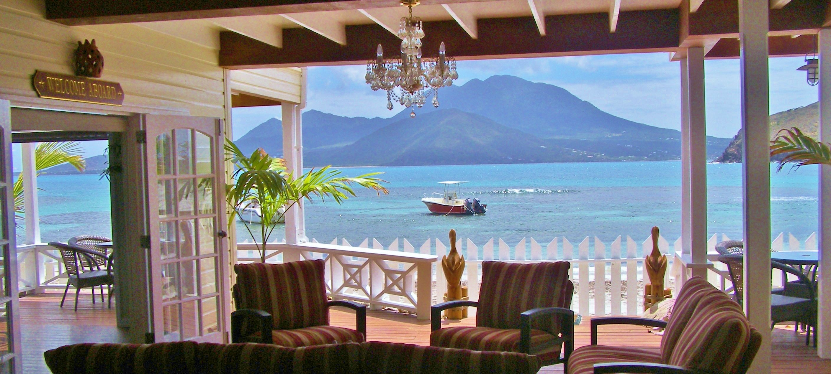 Beach House. Ocean Song Turtle Beach Cottage St. Kitts ...