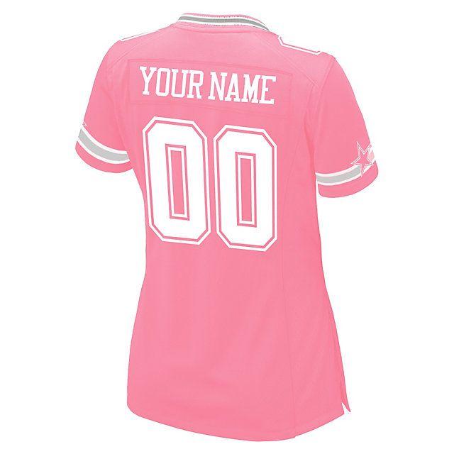 Hot Dallas Cowboys Women's Custom Pink Replica Jersey | Dallas Cowboys 4  free shipping