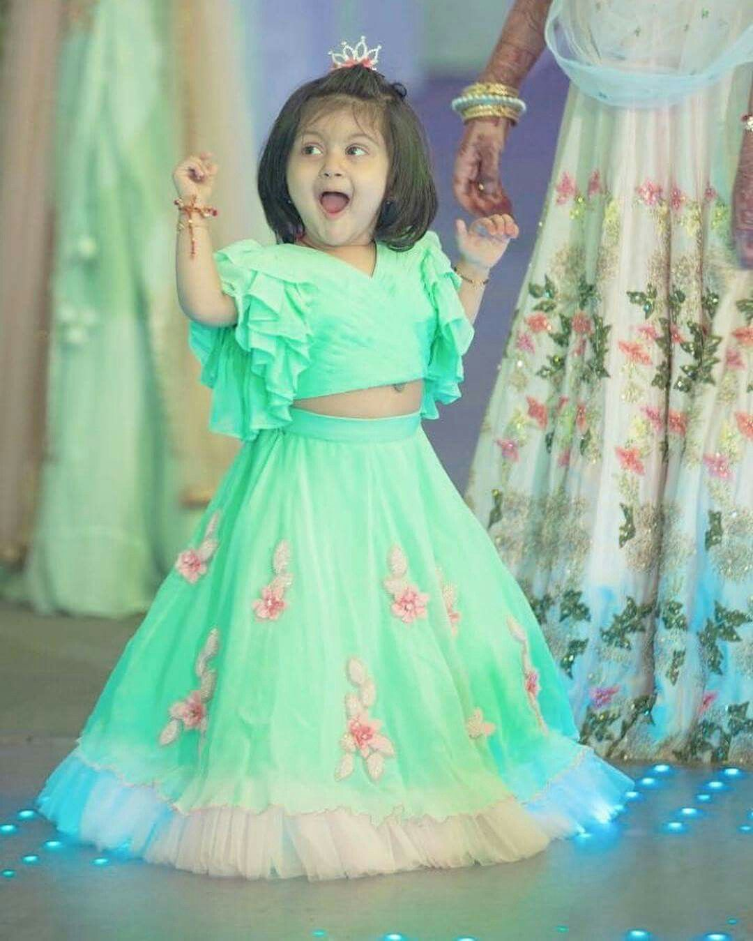 88e34cc2f654 Pinterest • @KrutiChevli Lehanga For Kids, Kids Lehanga Design, Kids Indian  Wear,