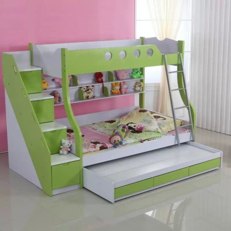 Lindo juego de dormitorio para ni os as ideal incluso for Dormitorios pequenos para ninos